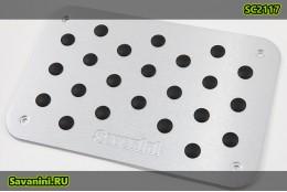 Алюминиевый подпятник на коврик