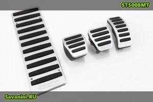 Накладки на педали Audi A4, A5, A6, A7, A8, Q5 (механика)